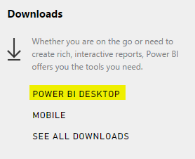 Power BI Desktop - Download 1